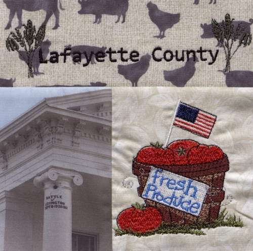 The Pride of Lafayette County - Quilted by Laurel Kindley. **Selected for the Missouri Bicentennial Quilt**