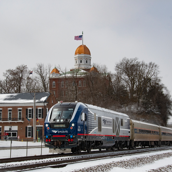 AMTRAK Coming In Cold. Photograph by Mike Langille. **Selected for the My Missouri 2021 exhibition**
