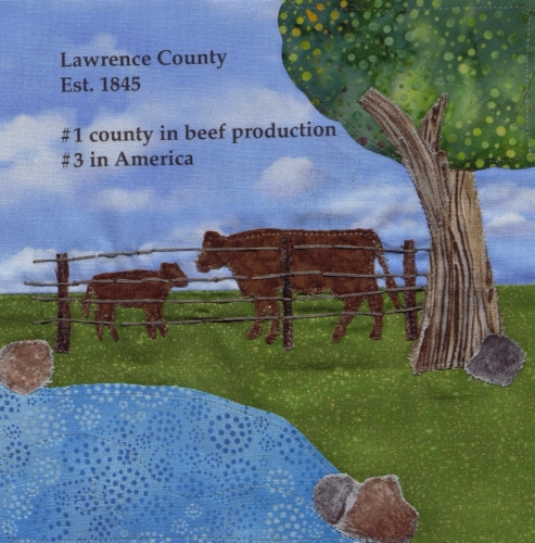 Land I Love - Created by Deborah Garner. **Selected for the Missouri Bicentennial Quilt**