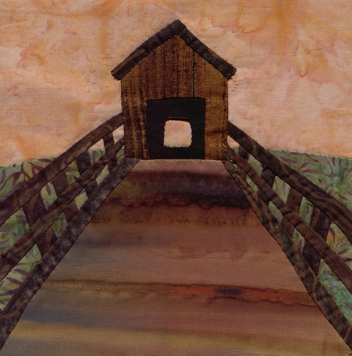 Locust Creek Covered Bridge - Created by Martha Street Bell. **Selected for the Missouri Bicentennial Quilt**