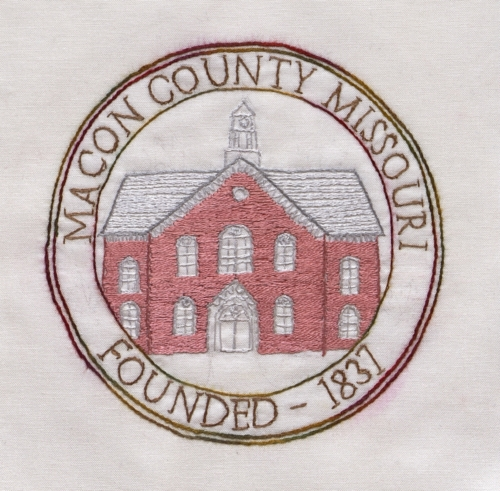 Macon County Courthouse - Created by Elizabeth Ann White Roeder. **Selected for the Missouri Bicentennial Quilt**