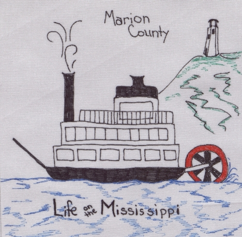 Life on the Mississippi - Created by Kathi Moore. **Selected for the Missouri Bicentennial Quilt**