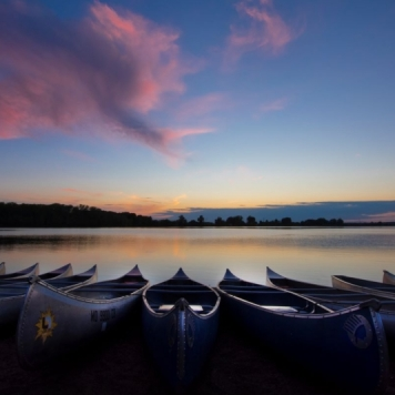 Canoes on the Lake. Photograph by Sara Mauer. **Selected for the My Missouri 2021 exhibition**