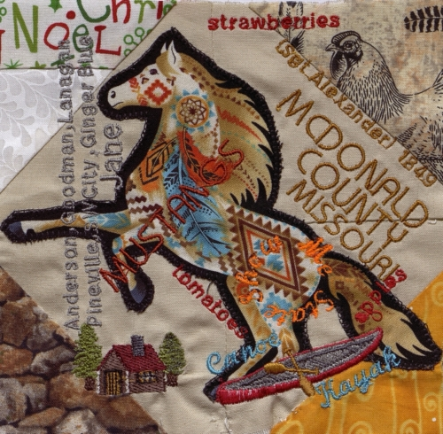 Mustang Spirit - Created by Norma Jean Capps. **Selected for the Missouri Bicentennial Quilt**