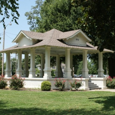 Malone Park Bandstand. Photograph by Kathy Medley.