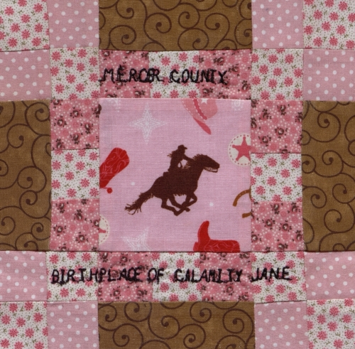 Mercer County, Missouri: Birthplace of Calamity Jane - Quilted by Judy M. Hamilton. **Selected for the Missouri Bicentennial Quilt**