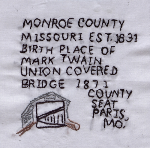 Monroe County - Created by Mary McMorris. **Selected for the Missouri Bicentennial Quilt**