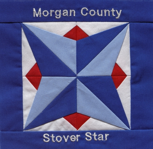 Stover Star - Quilted by Myrna Joyce Schroder.