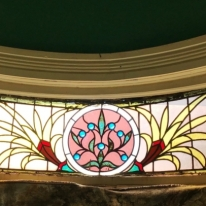 Past Shines Through: 1895 Stained Glass Window. Photograph by Kristen Mouton.
