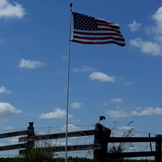 Our Flag. Photograph by Betty Nappier.