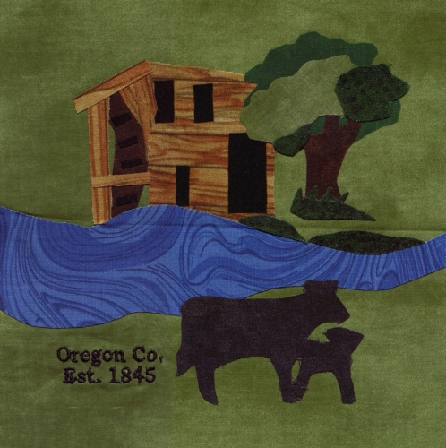 Oregon County in My Eyes - Created by Shelby Ledgerwood. **Selected for the Missouri Bicentennial Quilt**