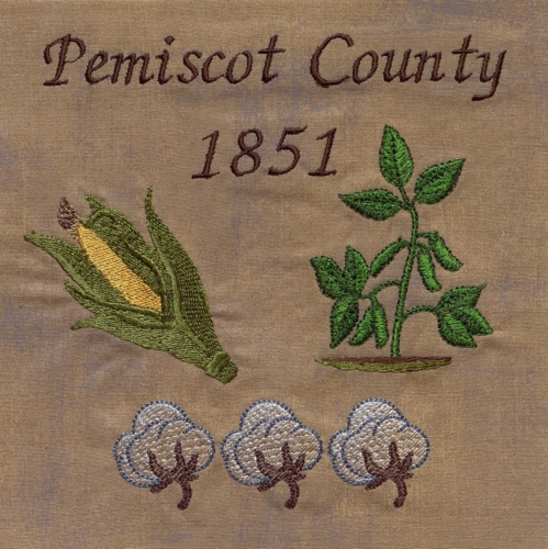 Farming in the Bootheel - Created by Vicky Dereign. **Selected for the Missouri Bicentennial Quilt**
