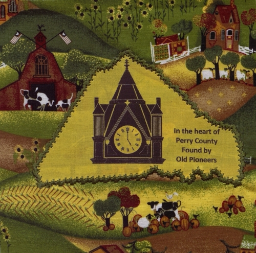 In the Heart of Perry County - Created by JoAnn Clements and Donna Ballman. **Selected for the Missouri Bicentennial Quilt**