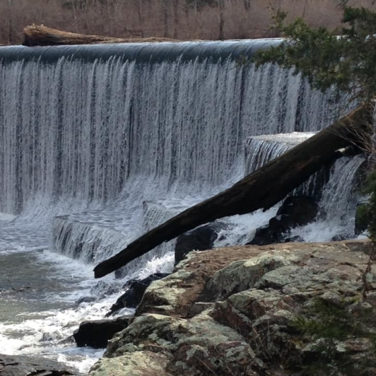 Waterfall At City Lake Fredericktown Mo. Photograph by Stephanie Pogue.