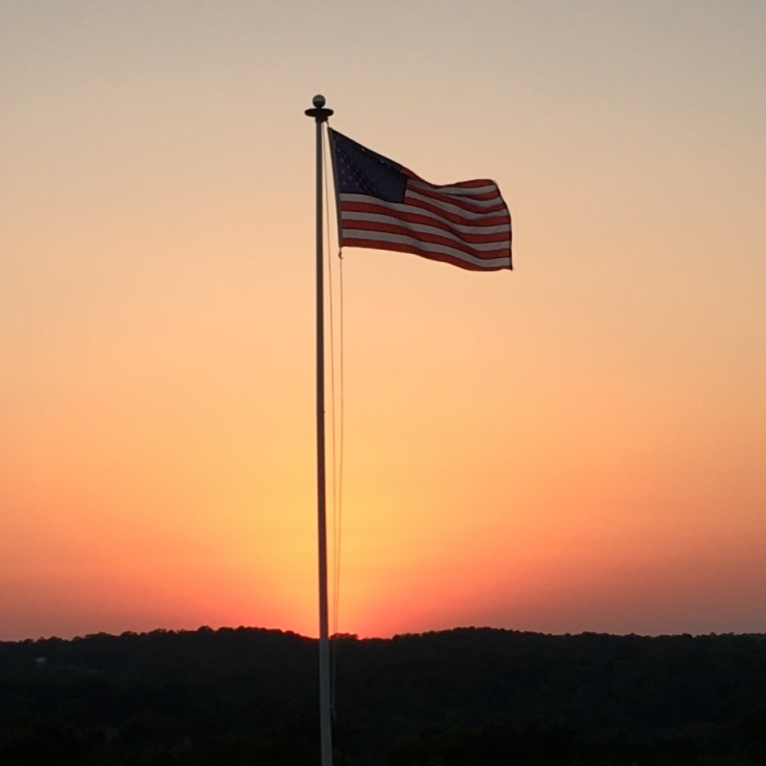 Old Glory. Photograph by Marilyn Pyeatt.