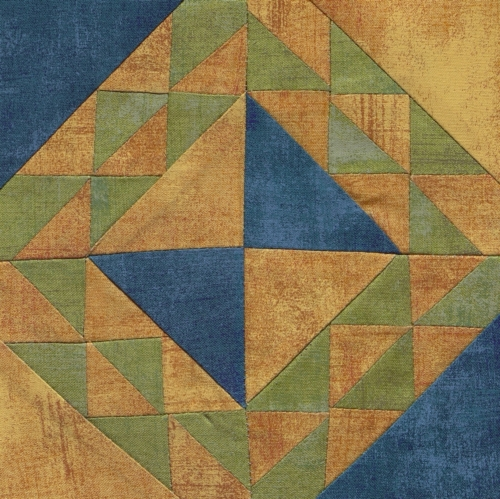 Corn and Beans - Quilted by Barbara Jean Hibbs. **Selected for the Missouri Bicentennial Quilt**
