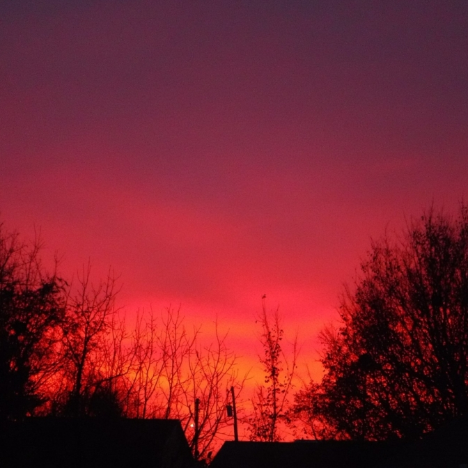 Paint the Sky Red. Photograph by Lindsey Reynolds.