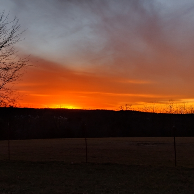 Sunset Over Strafford. Photograph by Sherry Ricket.