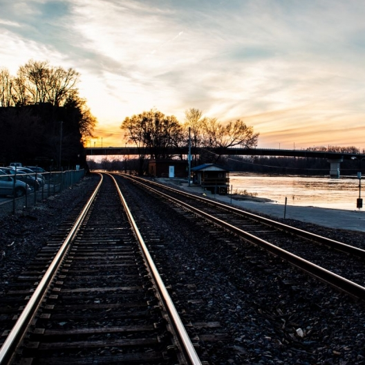 Riverfronts and Railroad Tracks. Photograph by Torrie Roodhouse.