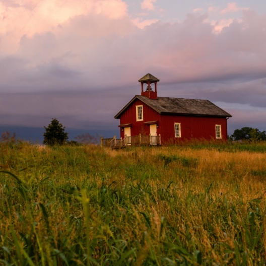 Schoolhouse Sunset. Photograph by Torrie Roodhouse. **Selected for the My Missouri 2021 exhibition**