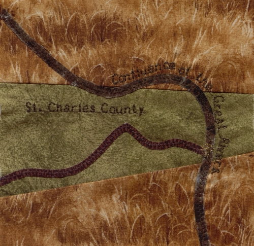 Confluence of the Great Rivers - Created by Janet E. Foss. **Selected for the Missouri Bicentennial Quilt**