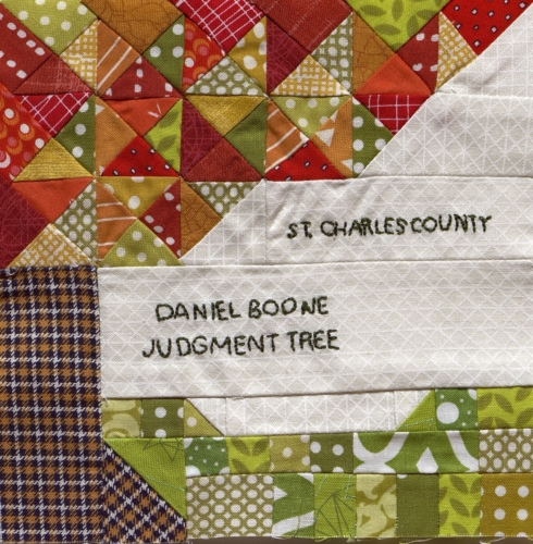 Judgement Tree - Quilted by Gina Shelley.