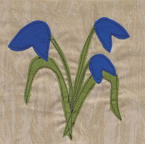 Bluebell - Created by Caroline Drake. **Selected for the Missouri Bicentennial Quilt**