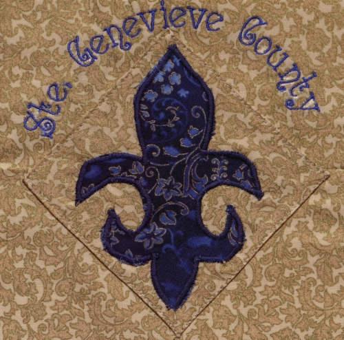 Fleur de Lis of Ste. Genevieve - Quilted by Linda Hermann. **Selected for the Missouri Bicentennial Quilt**