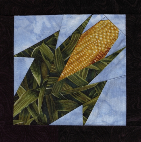 Corn Kernels - Quilted by Marty Webster. **Selected for the Missouri Bicentennial Quilt**