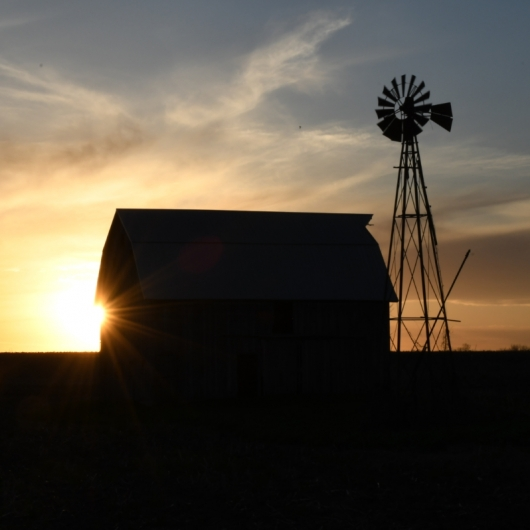 Barn and Windmill. Photograph by Sherry Schulte. **Selected for the My Missouri 2021 exhibition**