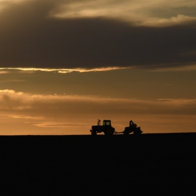 Sunset Tractor. Photograph by Sherry Schulte. **Selected for the My Missouri 2021 exhibition**