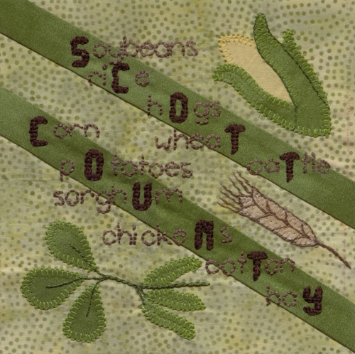 Agriculture in Scott County - Created by Vickie Ann Westrich. **Selected for the Missouri Bicentennial Quilt**