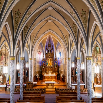 Sanctuary St. Columban's Church. Photograph by Butch Shaffer. **Selected for the My Missouri 2021 exhibition**