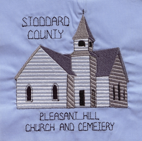 Pleasant Hill Church and Cemetery - Created by Donna Thayer. **Selected for the Missouri Bicentennial Quilt**