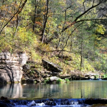 Autumn Comes to the Ozarks. Photograph by Kevin Sullivan.