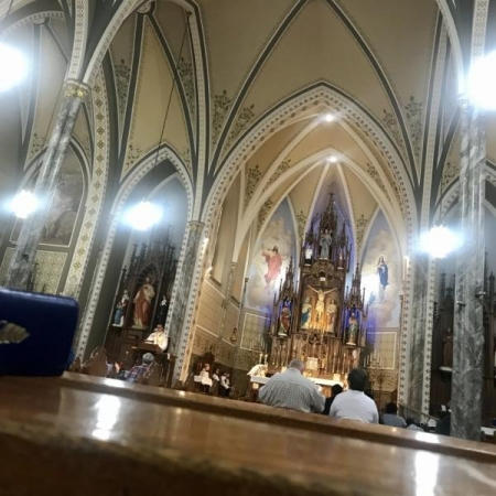 A View from the Pew. Photograph by Amy Supple.