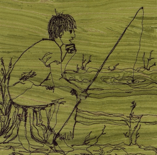 Fishing Piney River - Created by Polly Adkison.