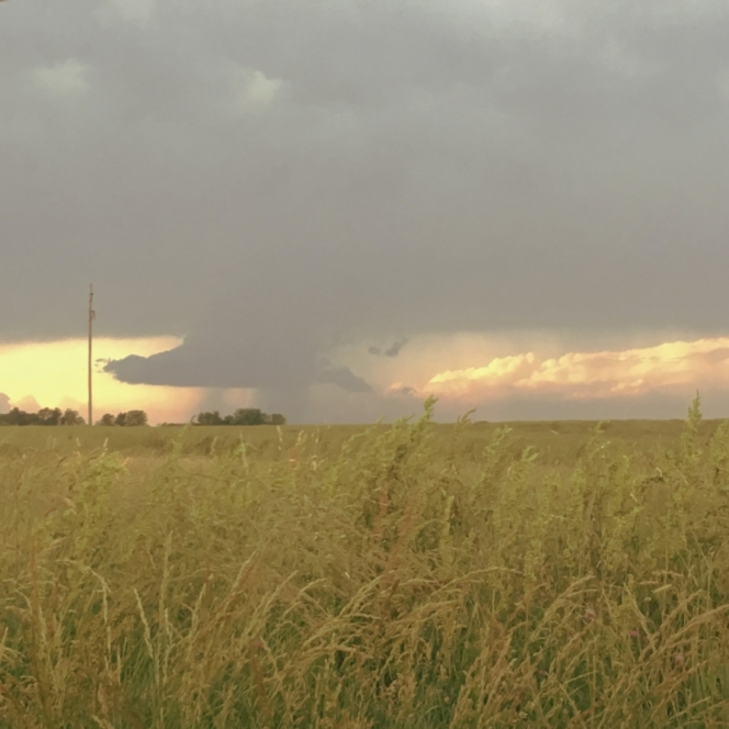 Storms Across The Hayfield. Photograph by Katelyn Thurman.