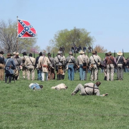 Civil War Reenactment Johnson County Veteran's Home. Photograph by Scott Umphrey.