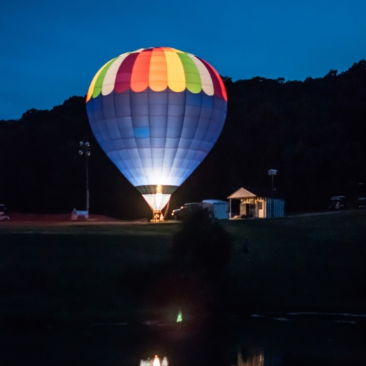 Balloon Glow for Veterans. Photograph by Scott Villmer. **Selected for the My Missouri 2021 exhibition**